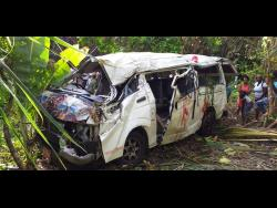 The ill-fated bus which crashed along the Black Hill main road in Portland on May 20, killing one student.