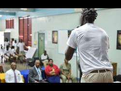 An inmate performs during an open day at the Tower Street Adult Correctonal Institution.