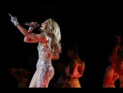 Jennifer Lopez performs during the half-time show at Super Bowl 54 on Feb. 2, 2020, in Miami Gardens, Florida.