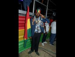 Fyah Stone at the Dennis Brown Tribute Concert.