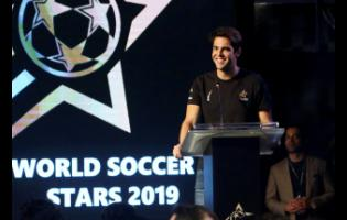 In this Thursday, Jan. 10, 2019 file photo, Brazilian player Ricardo Kaka smiles during a ceremony in Karachi, Pakistan.