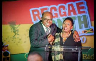 The Minister of Culture, Gender, Entertainment and Sport, Hon Olivia Grange, and the Minister of Tourism, Hon Edmund Bartlett.