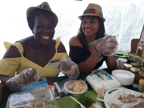 Christine Wright and Marie Lowthan are all smiles at the Made In Manchester Expo, held recently at The Mandeville Hotel.