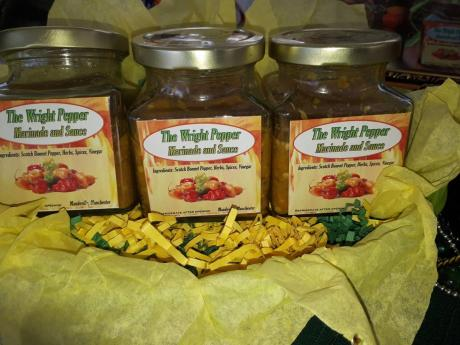 The Wright Pepper Marinade and Sauce made by Charmaine Wright.