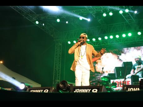 Veteran dancehall artiste Louie Culture in performance.