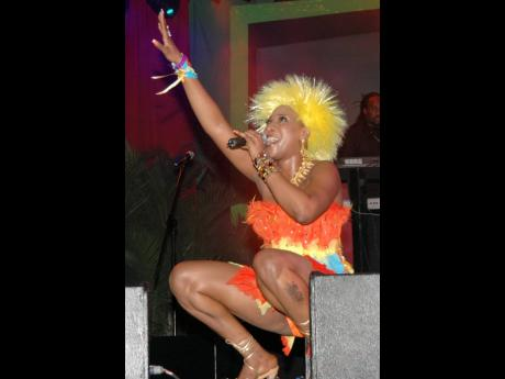 Macka Diamond during her performance at Red Stripe Reggae Sumfest's Storm Front, in Montego Bay, early Friday morning (July 21, 2006).