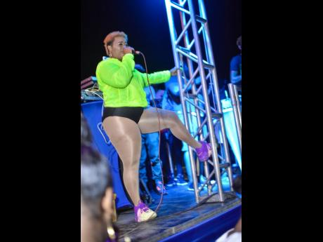 Bad Gyal Jade performs during Animal's birthday bash.