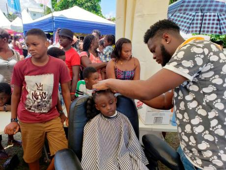 Children get a new look for the upcoming school year.