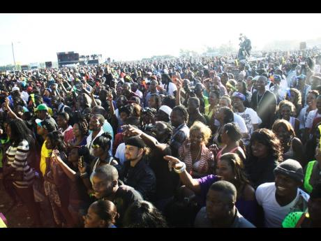 A section of the massive crowd at Sting 2012.