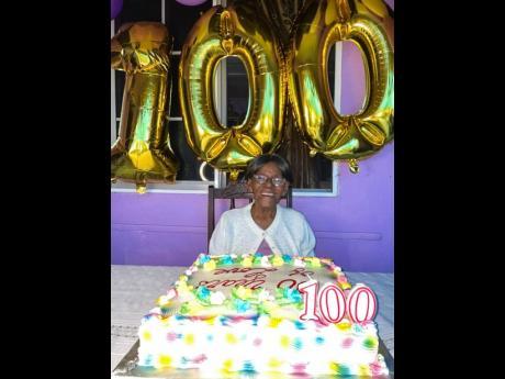 Icilda McCootie celebrating her 100th birthday on Sunday.