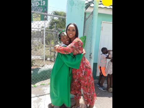 Nerryssa Hitulah embraces her daughter, Saphire Webb.