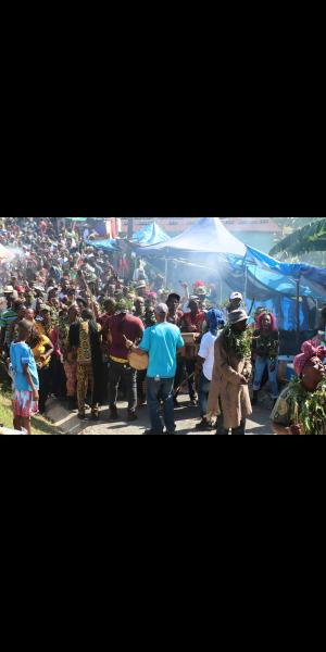 Maroons gathered in Accompong Town, St Elizabeth.